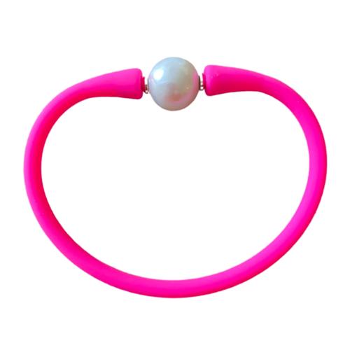 Maui Bracelet Freshwater Pearl- Hot Pink