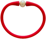 Maui Bracelet Freshwater Pearl- Red