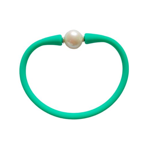 Maui Bracelet Freshwater Pearl- Mermaid Green
