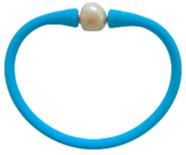 Maui Bracelet Freshwater Pearl- Bright Blue