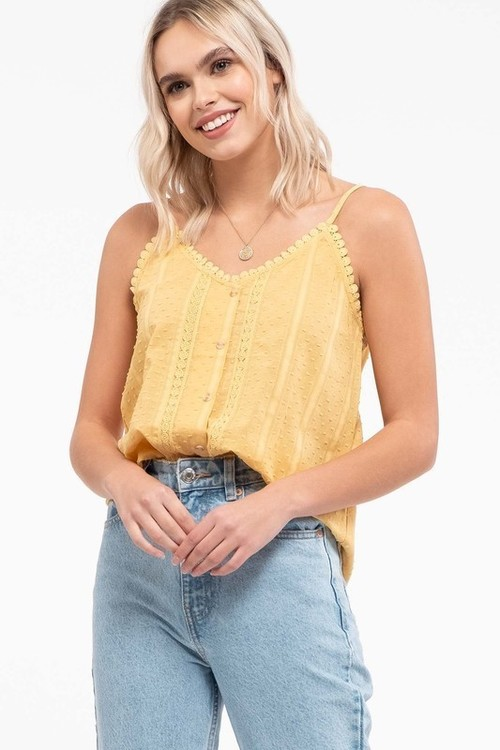 Textured Cami Dusty Yellow