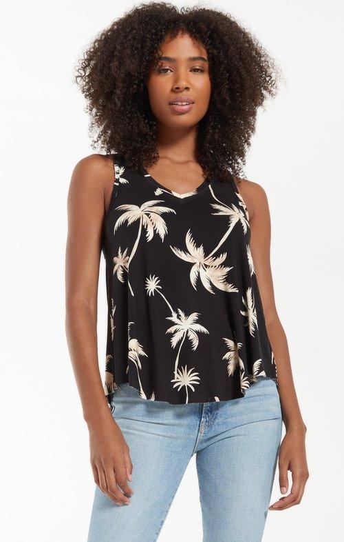 Vagabond Tropical Palm Tank Black