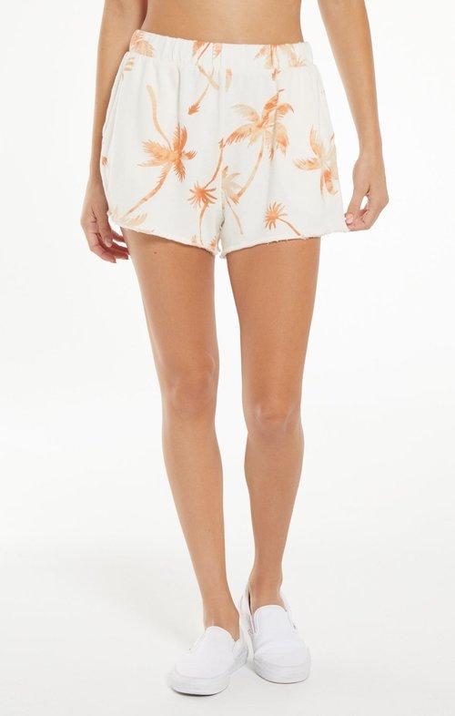 Lanai Tropical Terry Shorts Cantaloupe
