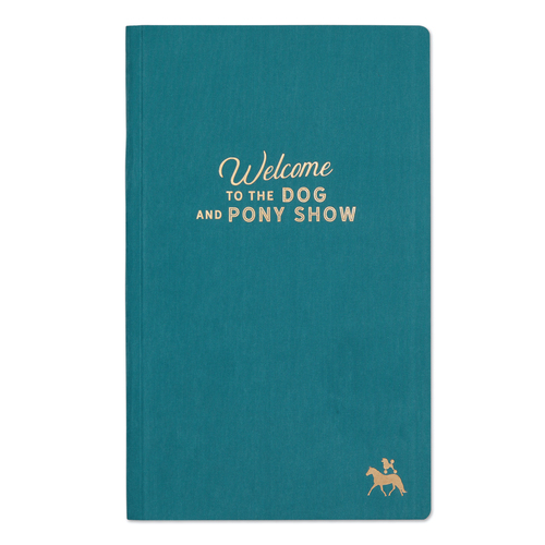 Dog And Pony Show Hardcover Book Bound Teal
