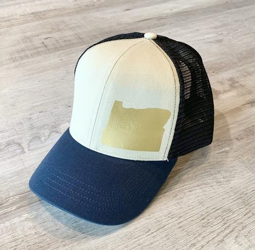 Hank Orange Navy Hat W/ Matte Gold OR