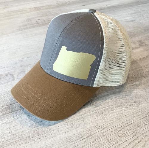 Hank Orange Brown Hat W/ Matte Gold OR