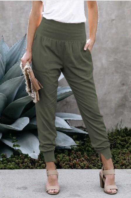 Joggers W/ Pockets Green
