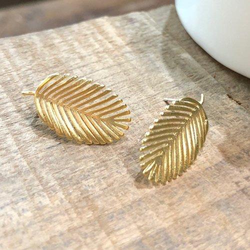Palm Leaf Stud Earring