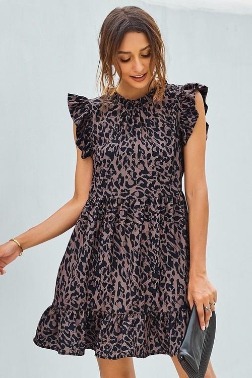 Ruffled Dress Black