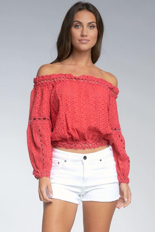 Elan Top Lace Red