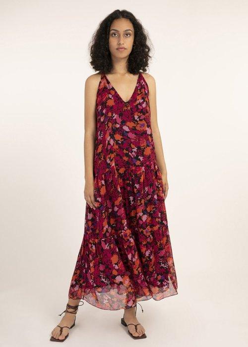 Aronia Floral Dress Magenta