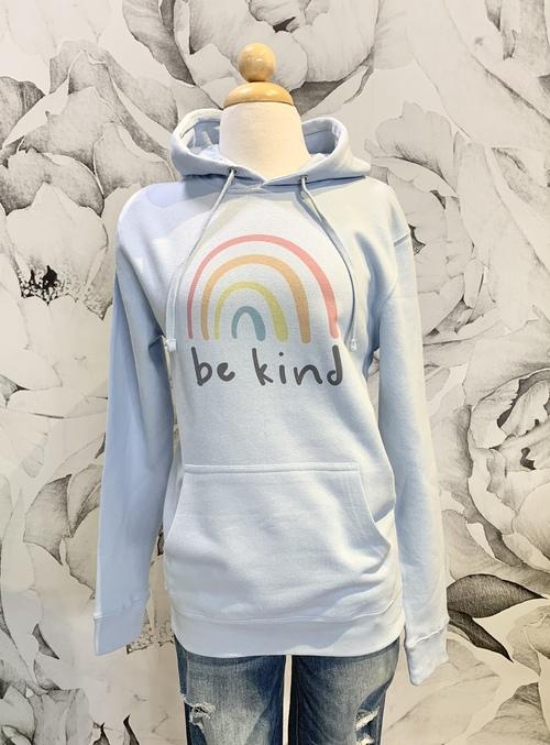 Be Kind Hoodie Ice Blue