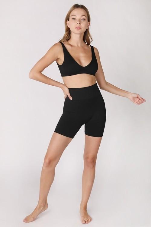 High-waisted Biker Shorts Black