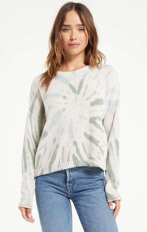 Sienna Tie Dye Sweater Sky Grey