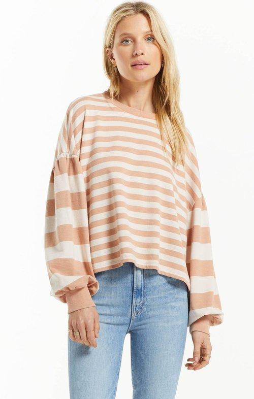 Tempest Stripe Sweatshirt Dusty Amber