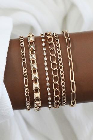 Brooke Gold Assorted Bracelets