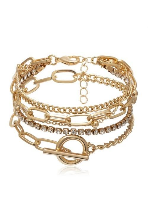 Stephanie Gold Assorted Bracelets