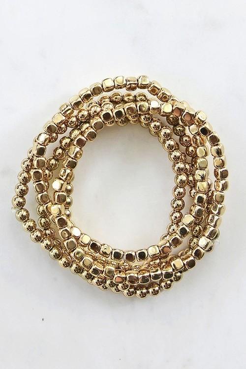 Ashley Gold Assorted Bracelets