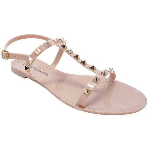 Joanie Nude Studded Sandal
