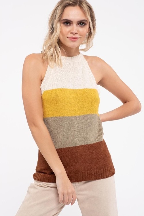 Sweater Tank Multi Color