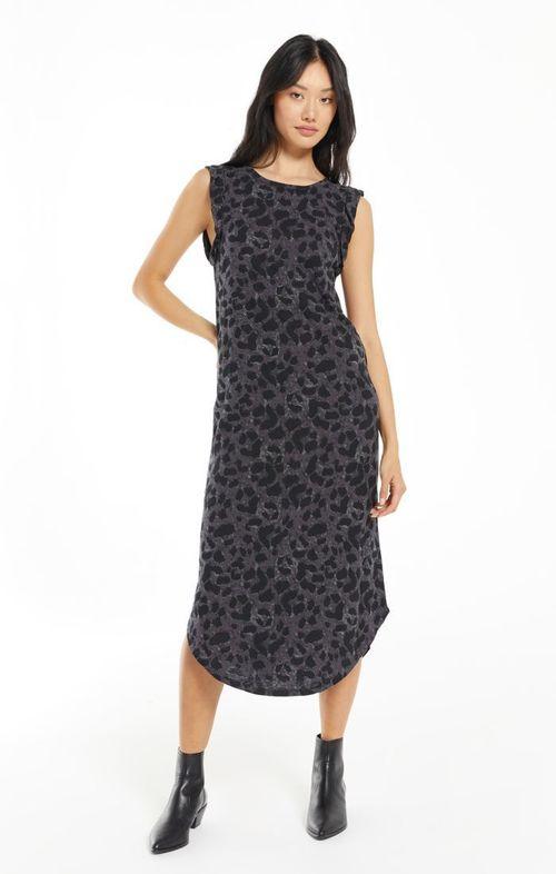 Bailey Slub Wildcat Dress Washed Black