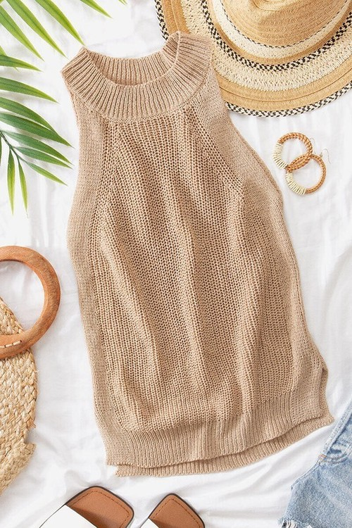 Halter Top Taupe