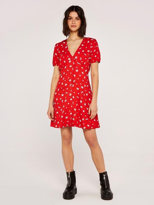 Floral Button Down Dress Multi