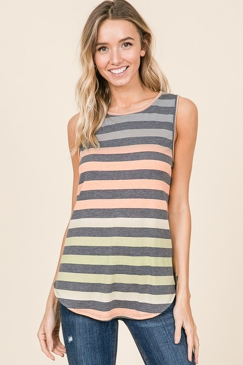 Stripe Tank Top Multi Color