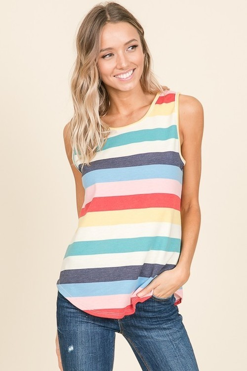 Stripe Tank Top Rainbow