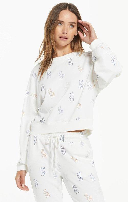 Noa Make Peace Sweatshirt Cloud Dancer