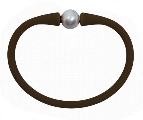 Maui Bracelet Freshwater Pearl- Chocolate