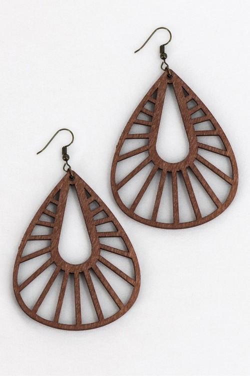 Zoey Bohemian Wooden Earrings