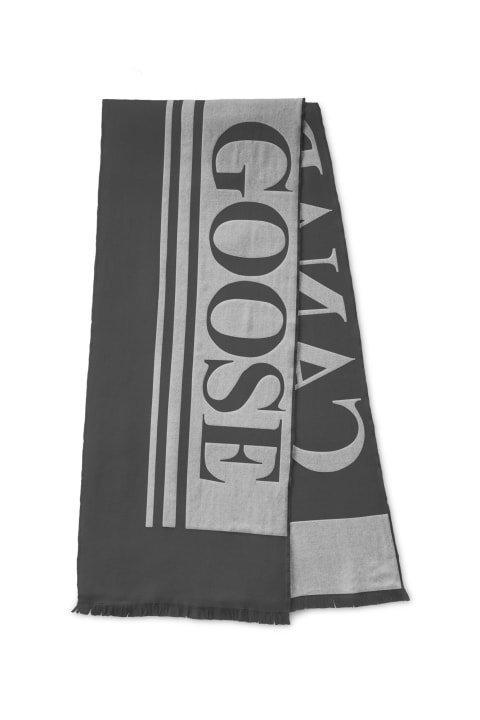 Canada Goose Woven Logo Scarf Iron Grey