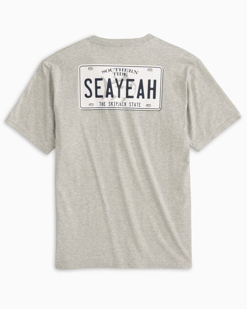 Southern Tide M SS SeaYeah License Plate Heather Tee