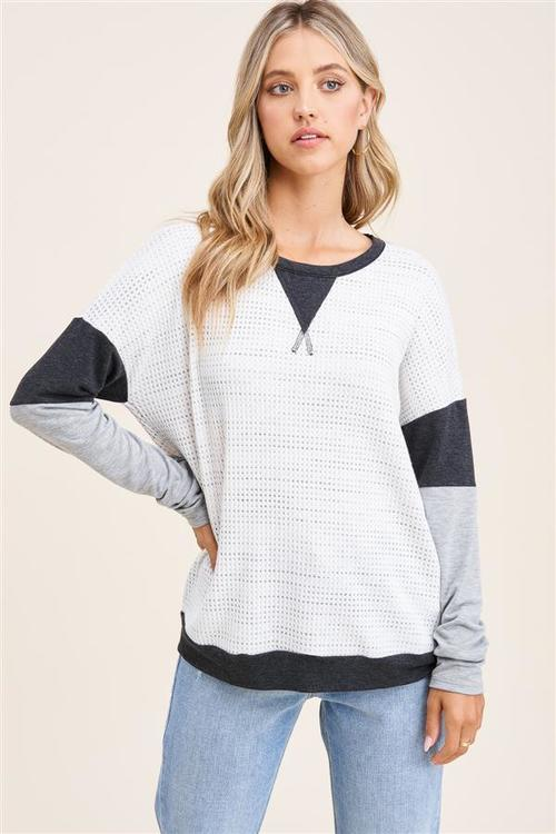 Scenic Route Waffle Knit Top