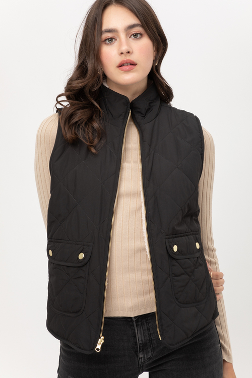 Split Personality Vest Black