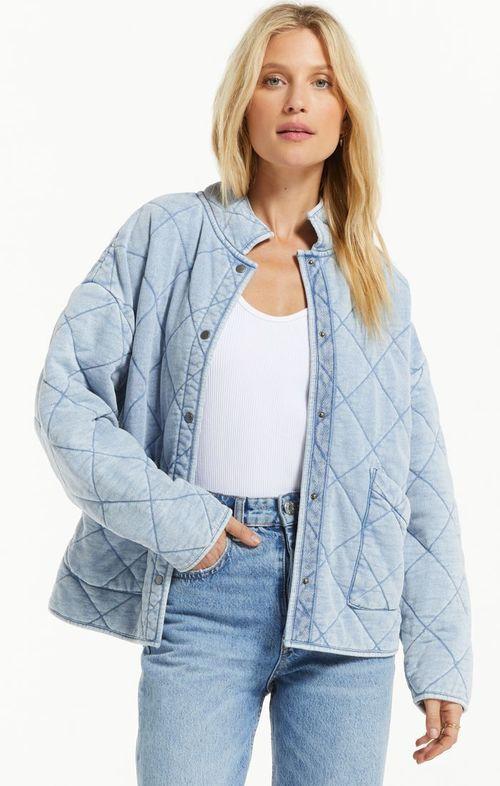Maya Knit Denim Jacket Washed Indigo