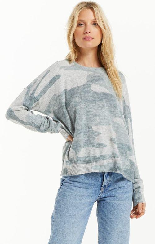 Larisa Camo Sweater Heather Grey