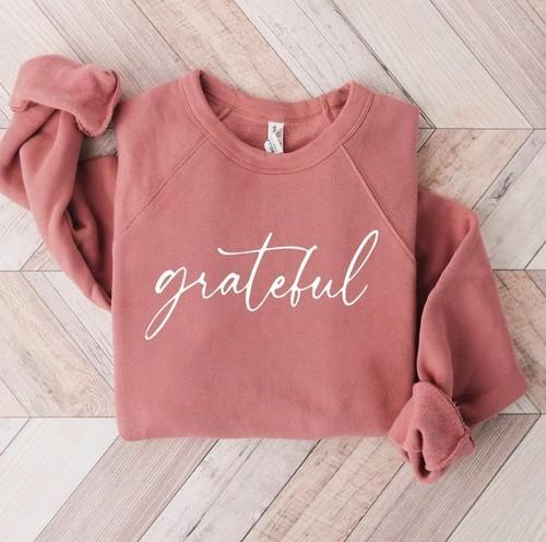 Grateful Graphic Pullover Mauve