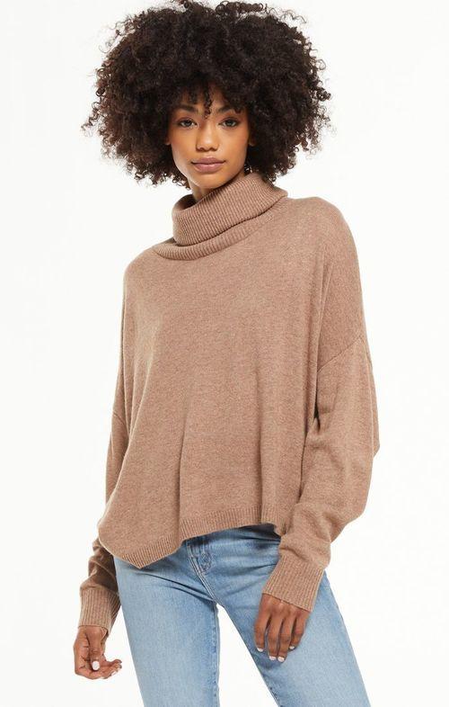 Agnes Turtleneck Sweater Desert Taupe