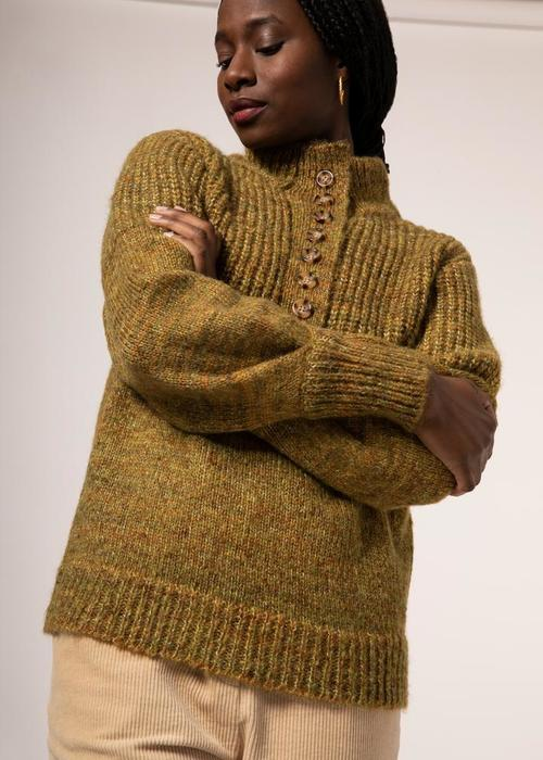 Naja Sweater Moutarde Olive