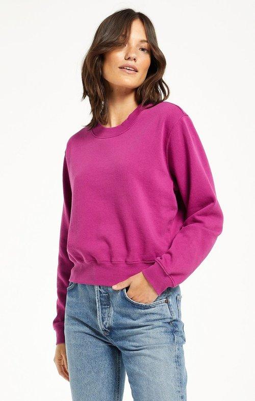 Classic Crew Sweatshirt Jewel Pink