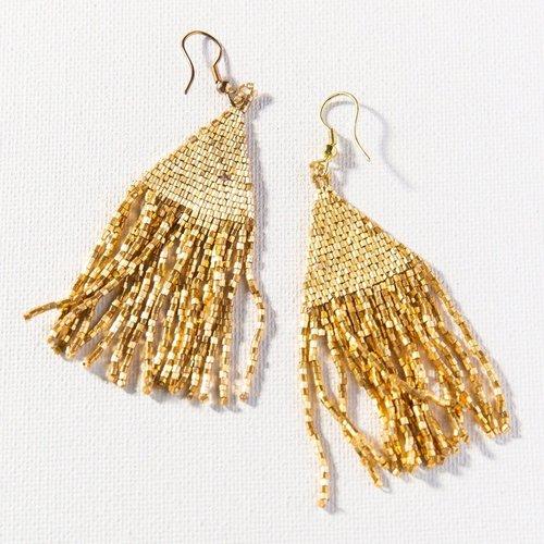 Gold Luxe Petite Fringe Earrings
