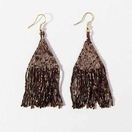 Bronze Luxe Petite Fringe Earrings