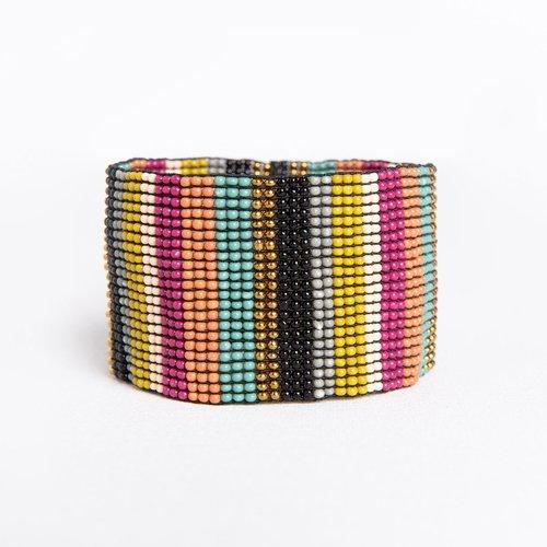 Muted Multi Stripe Bracelet
