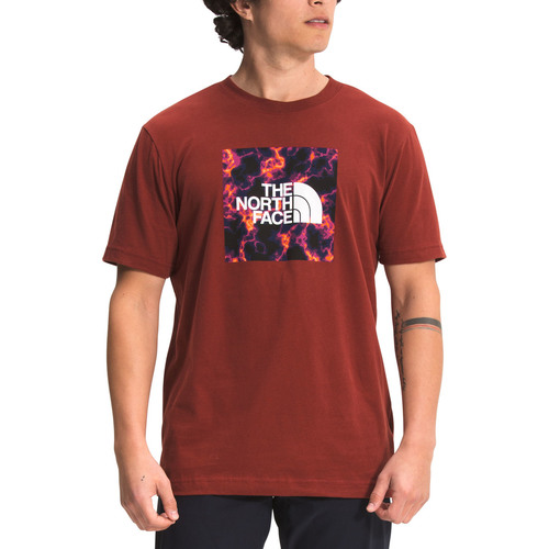 Northface M SS Boxed In Tee Brick House Red
