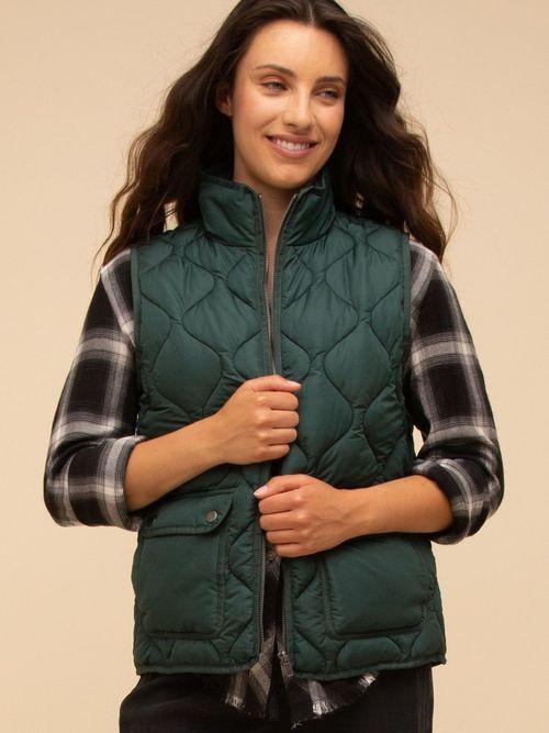 Stratton Vest Evergreen