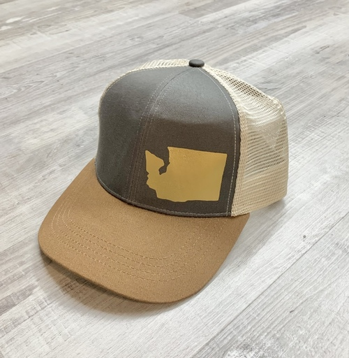 Hank Orange Brown Hat W/ Matte Gold WA