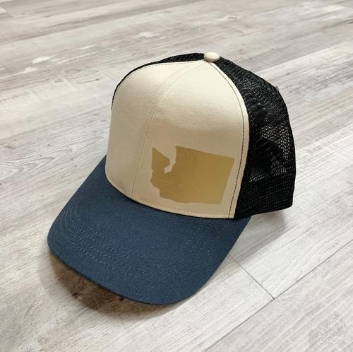 Hank Orange Navy Hat W/ Matte Gold WA