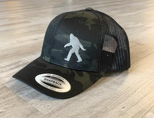 Sasquatch Silhouette Hat Black